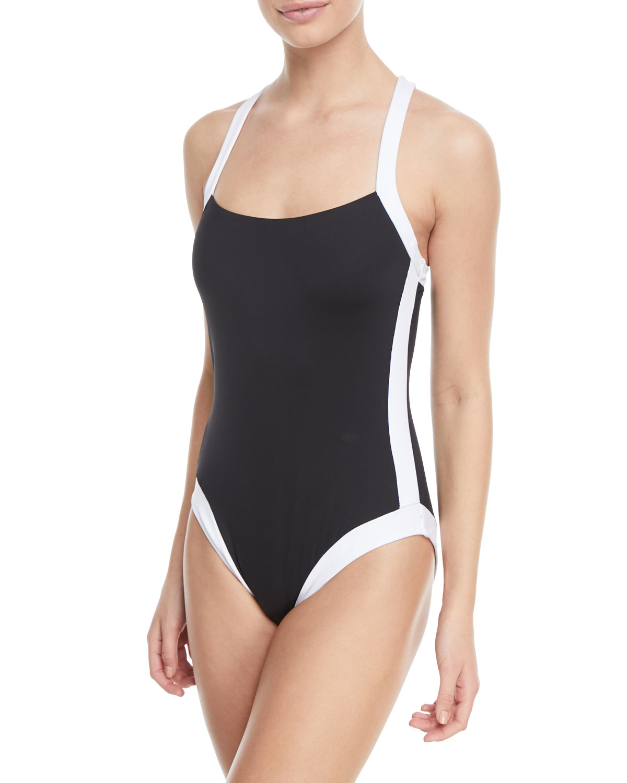 c49c8668a63 La Blanca Modern Underwire X-Back One-Piece Swimsuit | Neiman Marcus