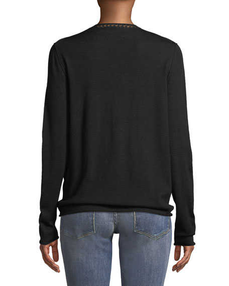 Gwendal Love Crewneck Long-Sleeve Sweater