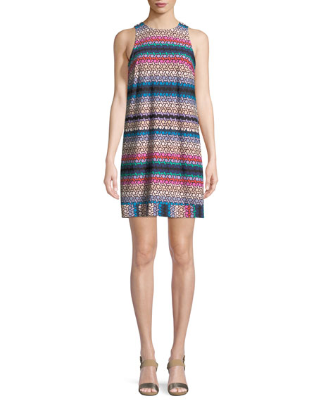 Macee Lupine Lattice Tank Mini Dress