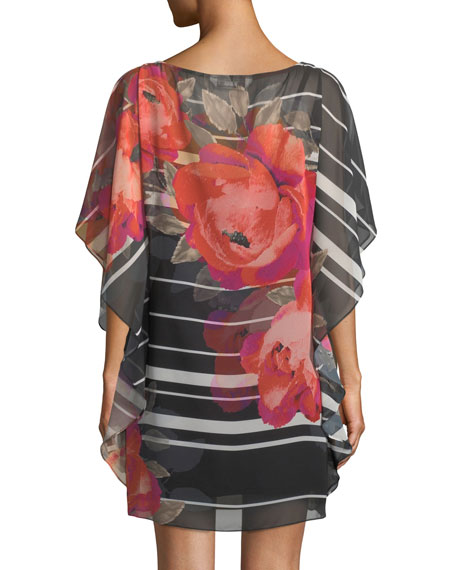 Anissa Horizon Bloom Chiffon Kaftan Dress