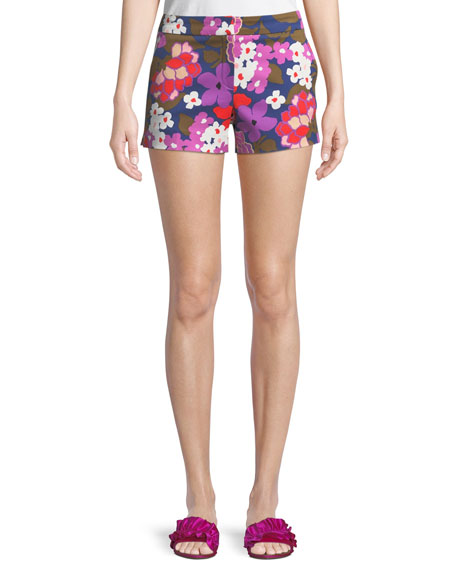 Corbin Greenhouse Floral-Print Shorts