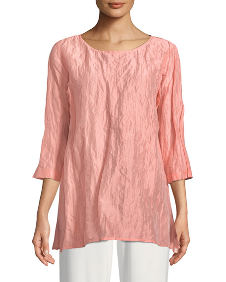 Caroline Rose Sorbet Crinkle Easy Tunic, Plus Size