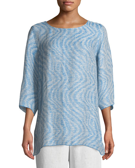 Ride the Wave Easy Linen/Cotton Tunic, Plus Size