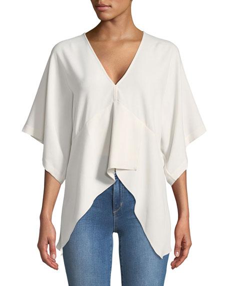 Iro Ekala V-Neck Bell-Sleeve Crepe Top and Matching