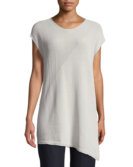 Eileen Fisher Short-Sleeve Asymmetric Tunic
