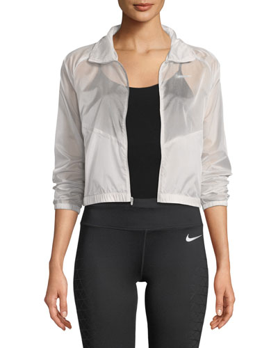Packable Zip-Front Sheer Ripstop Running Jacket
