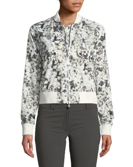 Eilis Blossom-Print Nylon Bomber Jacket