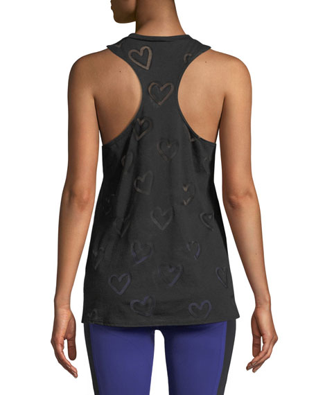 Heart-Burnout Racerback Muscle Shirt