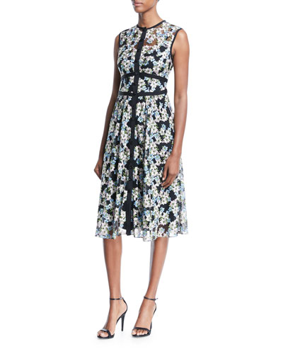 Night Dream Sleeveless Floral Dress