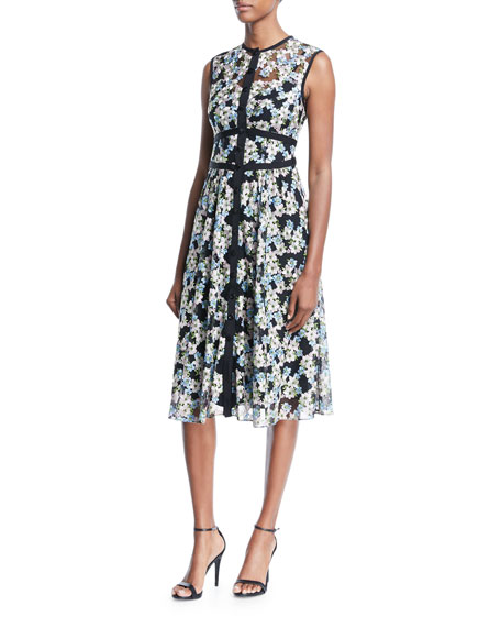 Nanette Lepore Night Dream Sleeveless Floral Dress