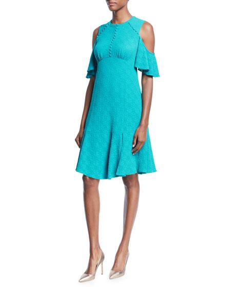 Nanette Lepore Sweet Nothing Cold-Shoulder Dress