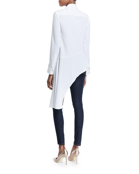 Dramatic Asymmetric Long-Sleeve Shirt