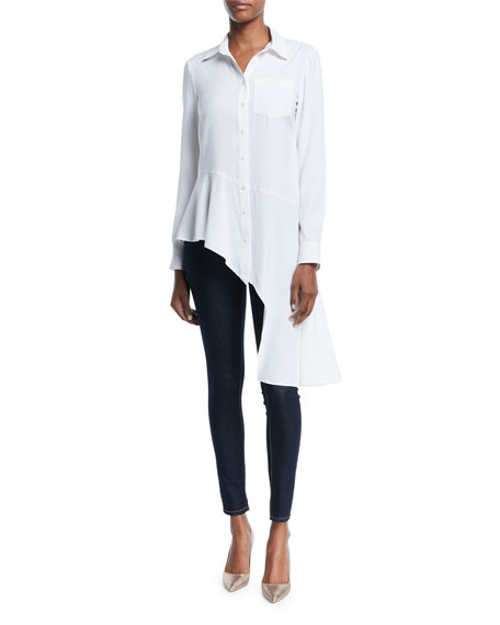 Nanette Lepore Dramatic Asymmetric Long-Sleeve Shirt