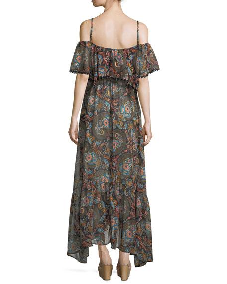 Celestina Off-the-Shoulder Printed Maxi Dress