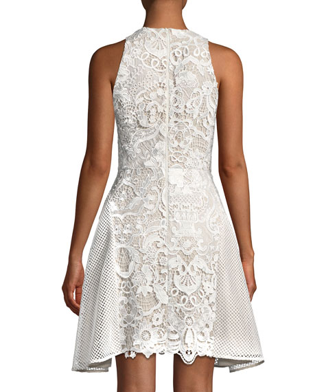Valentina Lace Racerback Mini Dress