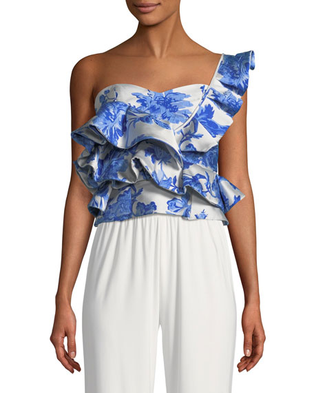Katalina One-Shoulder Ruffle Top