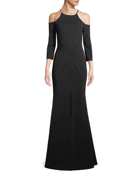 ZAC ZAC POSEN Clarise Cold-Shoulder Mermaid Gown in Black