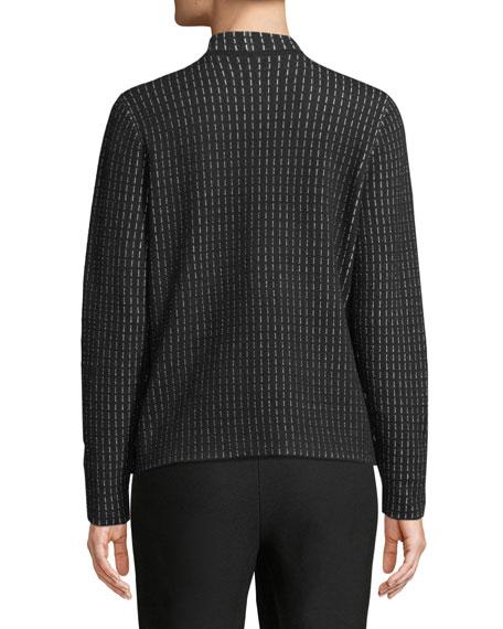 Silk and Organic Cotton Simple Shaped Cardigan, Petite