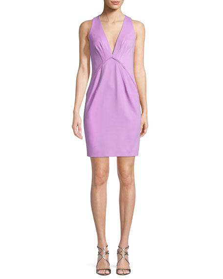 Clarise Deep V-Neck Sleeveless Cocktail Dress