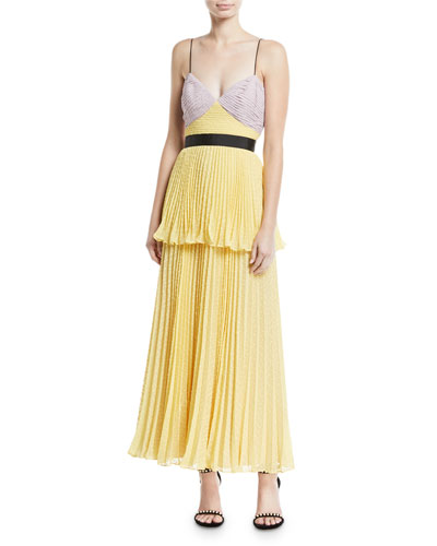 Crinkled Plumetis V-Neck Tiered Cocktail Dress