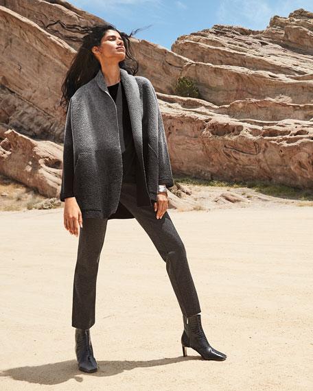Eileen Fisher Plus Size Short-Sleeve Lightweight Jersey Top