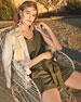 Marie Mesa-Stripe Linen Jacket