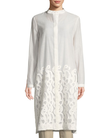 Lafayette 148 New York Auden Scrolled Jacquard Duster