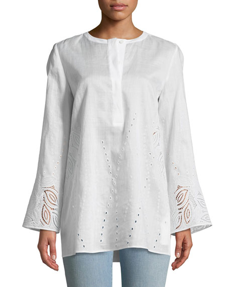Lafayette 148 New York Haisley Gemma Cloth Blouse