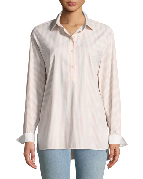 Kia Scania Stripe Poplin Blouse