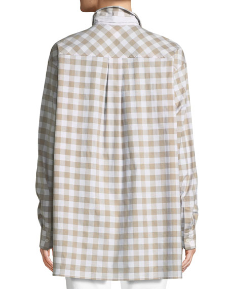 Tenley Coastal-Check Blouse