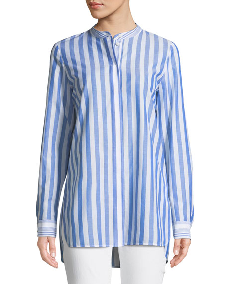 Lafayette 148 New York Brayden Captiva Striped Cotton