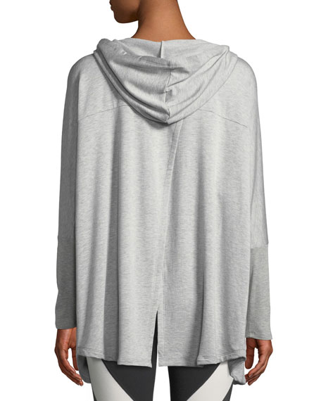 Love and Fleece Hooded Open-Front Cardigan