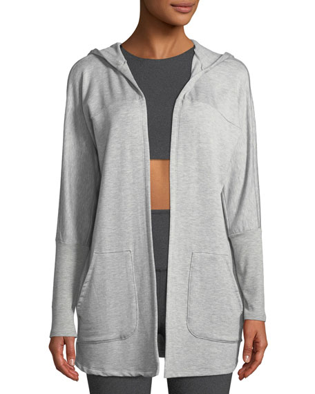 Beyond Yoga Love and Fleece Hooded Open-Front Cardigan