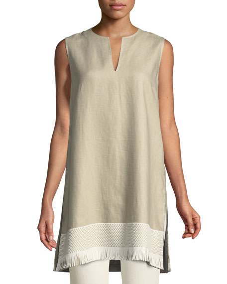 Lafayette 148 New York Chandelier Lavish Linen Tunic