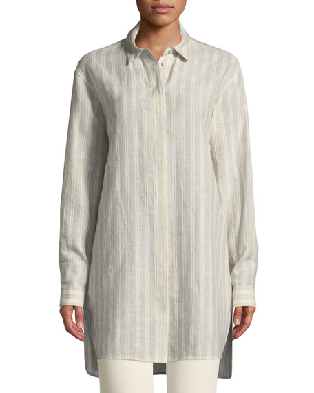 Alessandro Beatific Stripe Linen Blouse