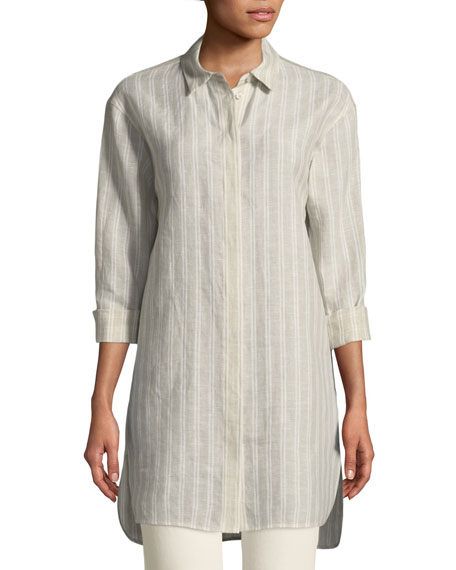Lafayette 148 New York Alessandro Beatific Stripe Linen
