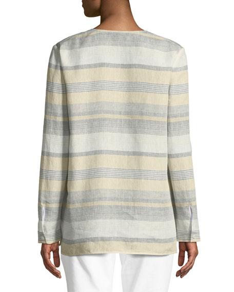 Joan Surrealist Linen Stripe Tunic