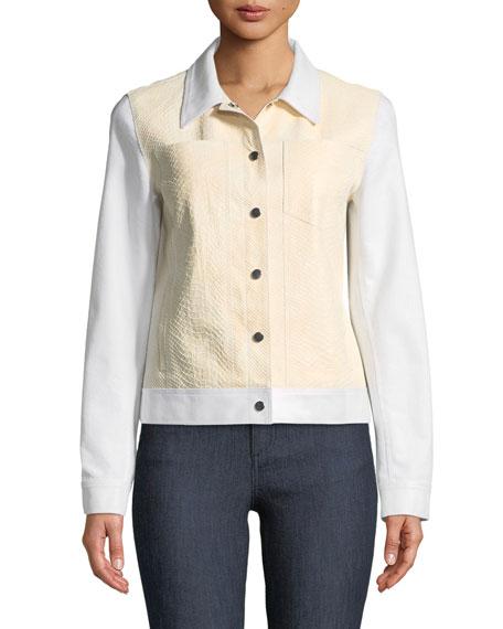 Braylon Denim & Leather Jacket