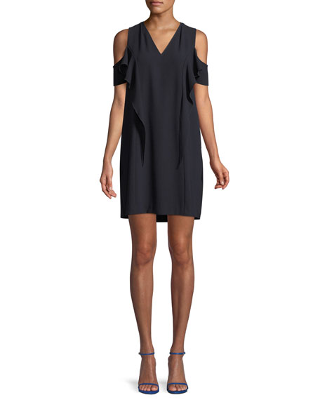 Elie Tahari Micaela Cold-Shoulder Mini Dress