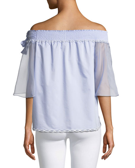 Diana Off-the-Shoulder Bow Blouse