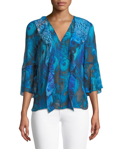 Faith V-Neck Silk Blouse