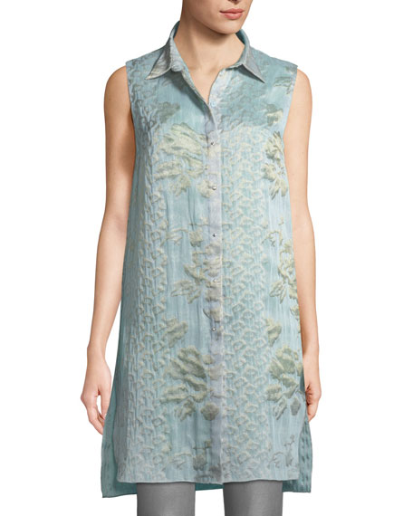 Elie Tahari Clark Floral-Embroidered Blouse