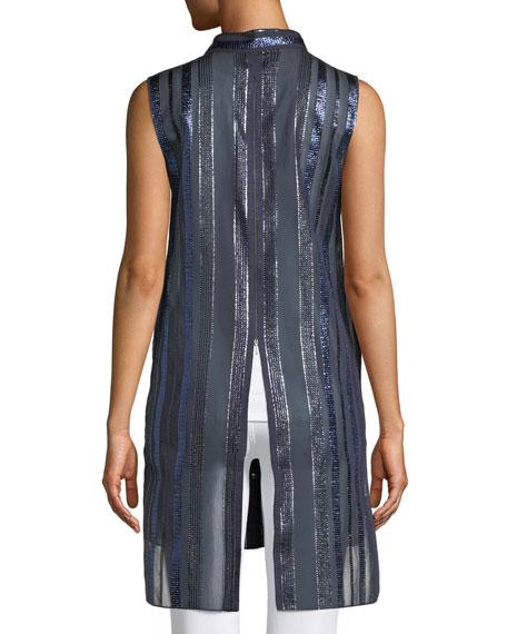Divitra Striped Sleeveless Tunic