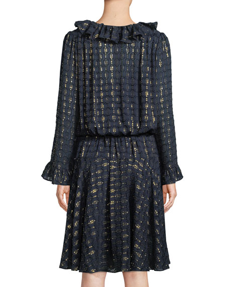 Jasmine Metallic-Stripe Dress