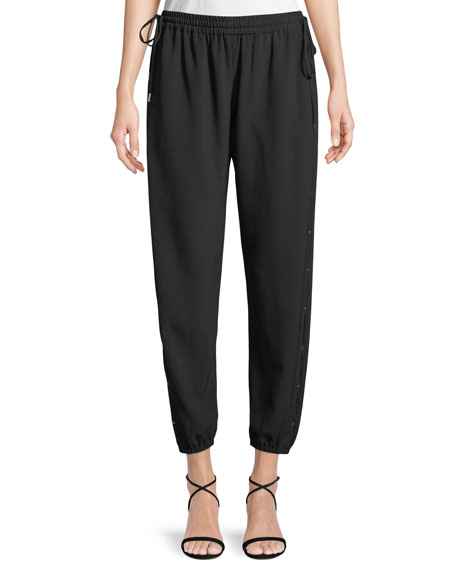 Elie Tahari Heather Drawstring Jogger Pants