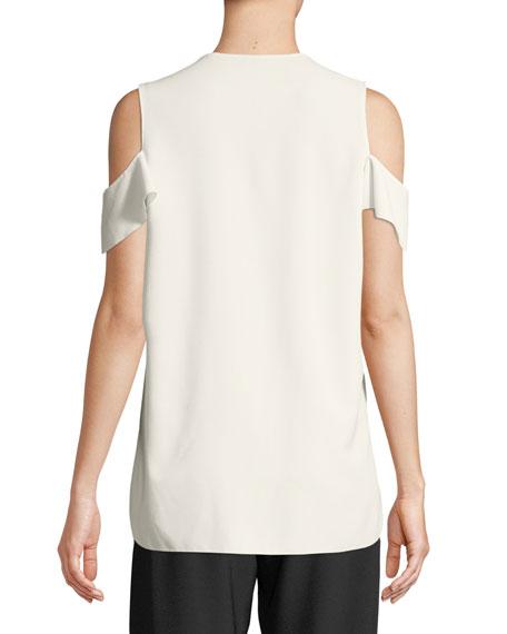 Ellen Ruffle Cold-Shoulder Blouse