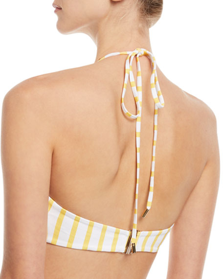 Caroline Constas Kali Striped Swim Top