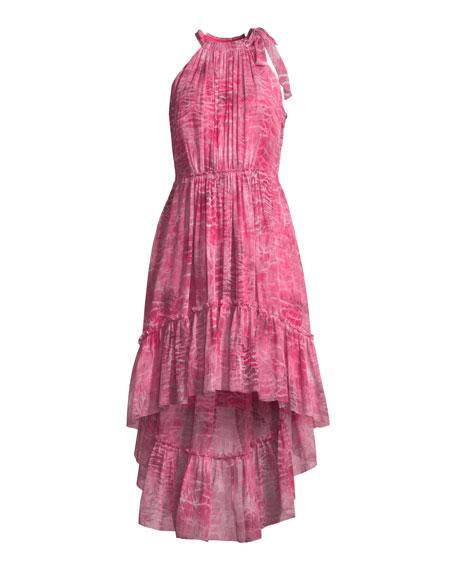 Primrose Floral-Print Silk Dress