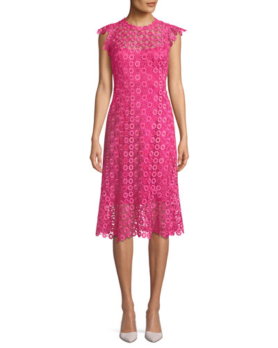 Florance Geometric-Lace Dress
