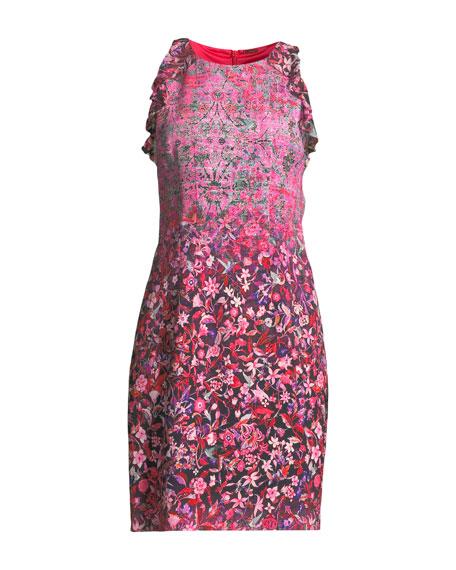 Carelle Ombré-Floral Shift Dress
